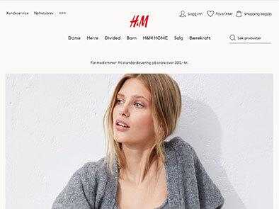 Hennes & Mauritz skjermbilde