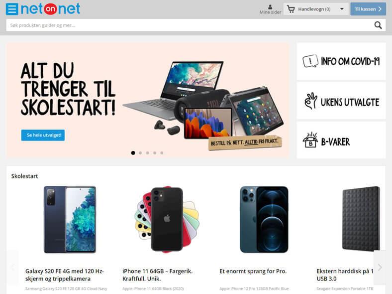 NetOnNet skjermbilde