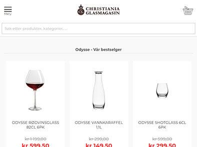Christiania Glasmagasin skjermbilde