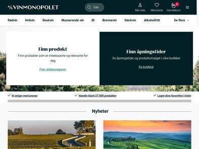 Vinmonopolet skjermbilde