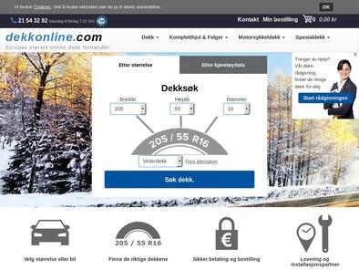 Dekkonline.com skjermbilde