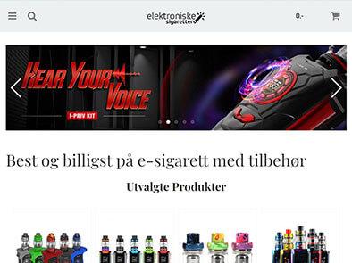 Elektroniske-sigaretter.no skjermbilde