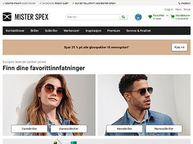 Mister Spex skjermbilde