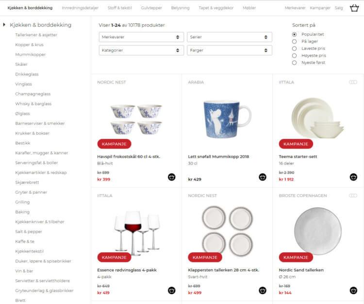 Kjøkkenkategorien på Nordicnest.no