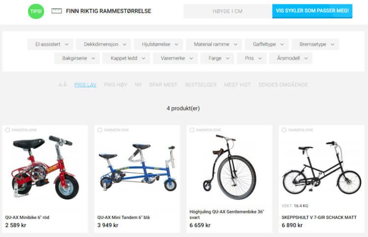 """Bilde fra kategorien """"Spesialsykler"""" på Cykelkraft.no"""
