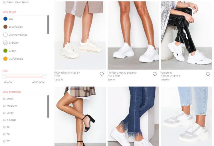 ffad1f6e8 Nelly • Nettbutikk med sko og moteklær til dame • Butikkliste.no