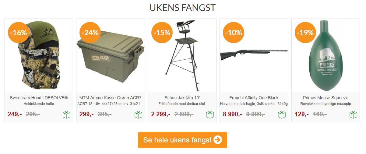 Bilde fra forsiden på Skittjakt.no