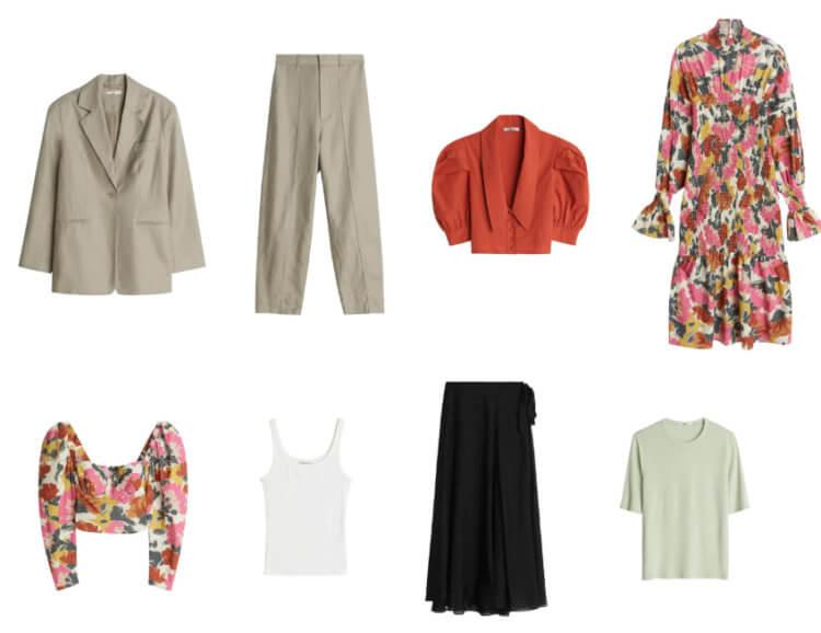 Bildet viser noen av plaggene i den kommende Premium-kolleksjonen til Gina Tricot.