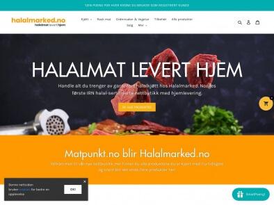 Halalmarked.no skjermbilde