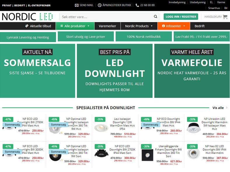 Nordic LED skjermbilde