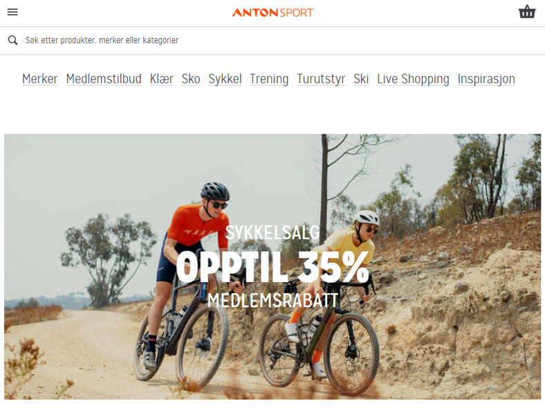 Anton Sport skjermbilde