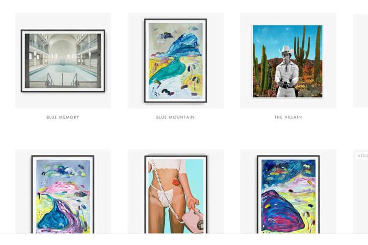 Bildet viser noen av kunstnverkene på OsloNowhere.no