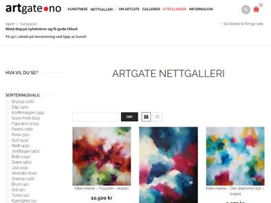 Artgate.no skjermbilde