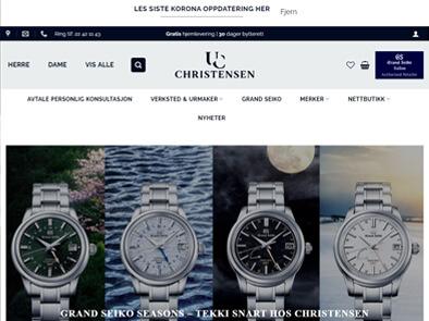 Urmaker Christensen skjermbilde