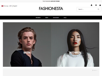 Fashionesta skjermbilde