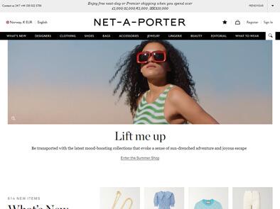 Net-A-Porter skjermbilde