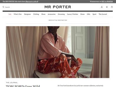 Mr Porter skjermbilde